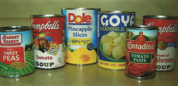Veterans Food Bank Canned Goods Donations
